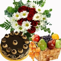 Cake Flowers and Fruits