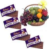 Fruits Basket with Cadburys Chocolates
