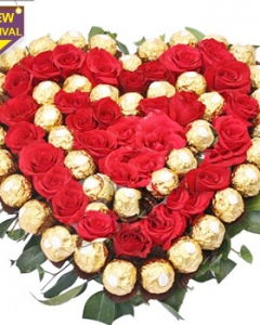 36 pomelo roses and 40 pcs ferrero rocher