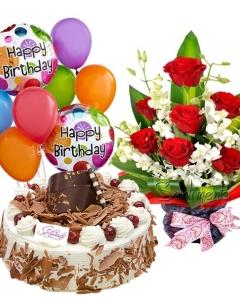 Amazing Cake Flowers Ballons Flowerdeliverymakati Com Funny Birthday Cards Online Hetedamsfinfo