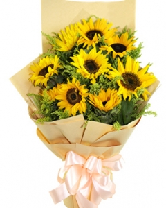 8 sunflower bouquet